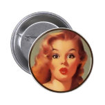 The Kitsch BItsch : Pin-Up Portraits Pinback Button