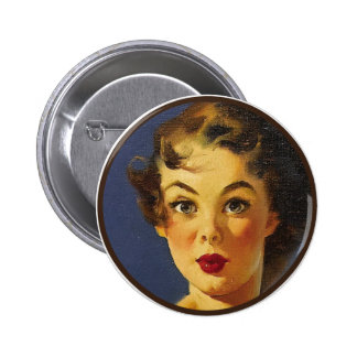 The Kitsch BItsch : Pin-Up Portraits Pinback Button