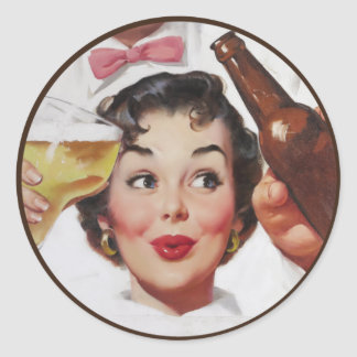 The Kitsch BItsch : Pin-Up Portraits Classic Round Sticker