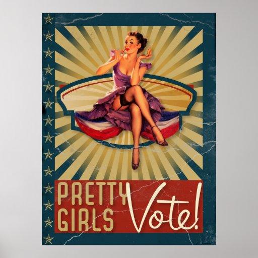 The Kitsch Bitsch : Pretty Girls Vote Poster