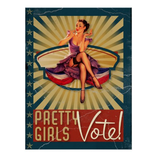 The Kitsch Bitsch : Pretty Girls Vote Print