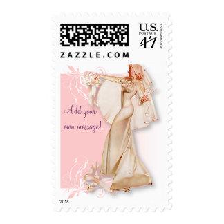 The Kitsch Bitsch : Retro Bridal Shower Postage Stamp