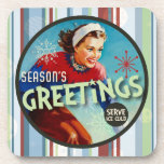 The Kitsch Bitsch : Season's Greetings! Drink Coaster