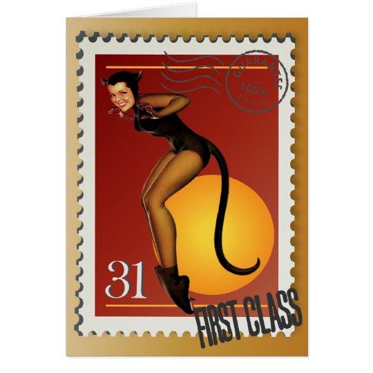 The Kitsch Bitsch : Sexy Black Cat! Card