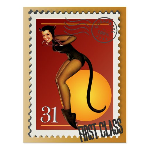 The Kitsch Bitsch : Sexy Black Cat! Postcard