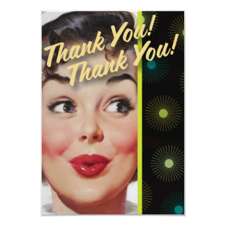 The Kitsch Bitsch : Thank You! Thank You! 3.5x5 Paper Invitation Card