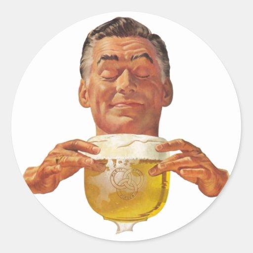 The Kitsch Bitsch : The Beer Guy! Round Sticker