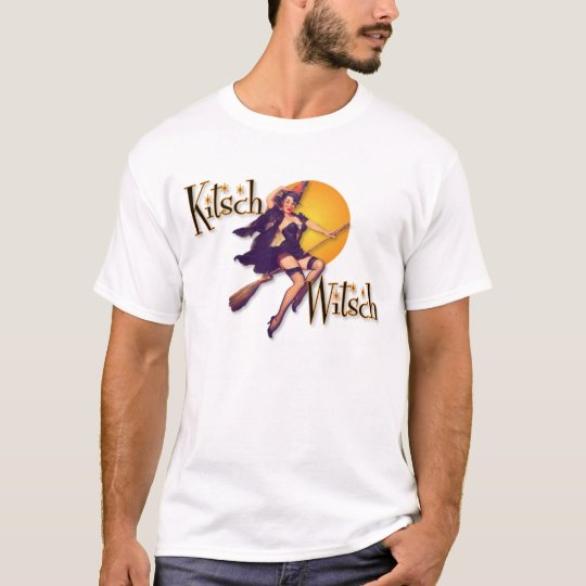 The Kitsch Bitsch : The Kitsch Witsch on Broom T-Shirt