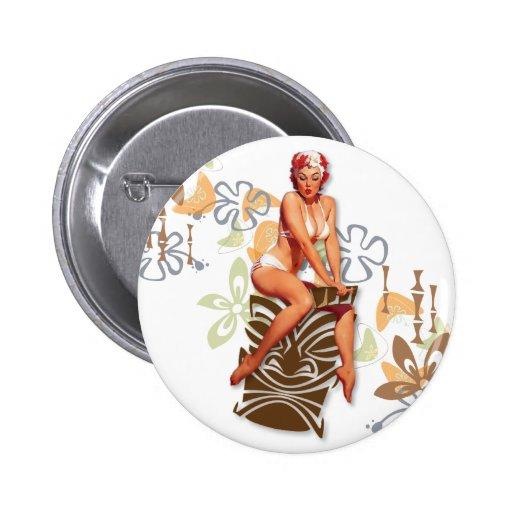 The Kitsch Bitsch : The Tiki Goddess Button
