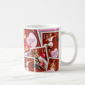 The Kitsch Bitsch : Valentines Stamp Collection Coffee Mug