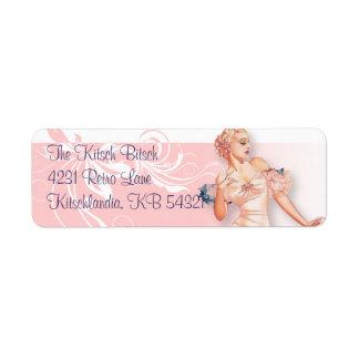 The Kitsch Bitsch : Vintage Bridal Shower Return Address Label