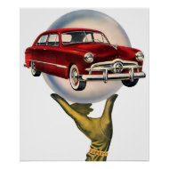 The Kitsch Bitsch : Vintage Car Graphic #1 print