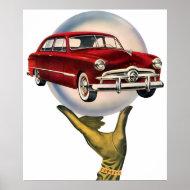 The Kitsch Bitsch : Vintage Car Graphic #1 print