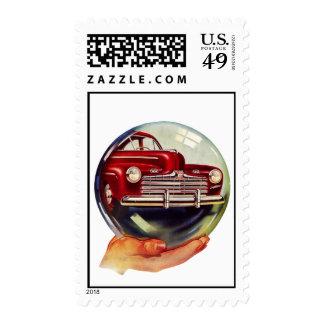 The Kitsch Bitsch : Vintage Car Graphic #3 Postage Stamps