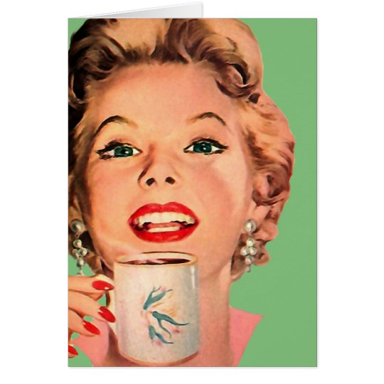 The Kitsch Bitsch : Vintage Coffee Graphic Card
