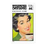The Kitsch Bitsch : Vintage Coffee Graphic Postage Stamp