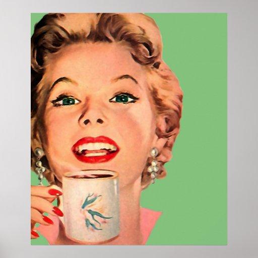 The Kitsch Bitsch : Vintage Coffee Graphic Poster