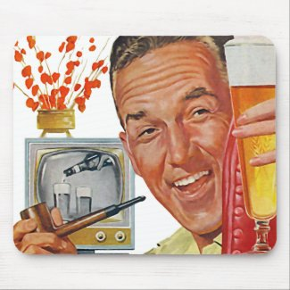 The Kitsch Bitsch : Vintage Dad Graphic mousepad