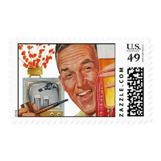 The Kitsch Bitsch : Vintage Dad Graphic Postage Stamps