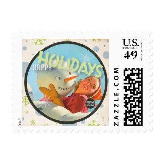 The Kitsch Bitsch : Vintage Happy Holidays Stamp