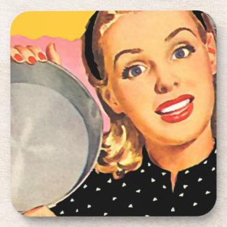 The Kitsch Bitsch : Vintage Housewife Graphic Beverage Coaster