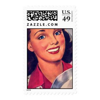 The Kitsch Bitsch : Vintage Kitschen Graphic Postage Stamp