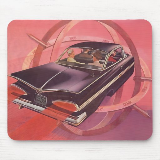 The Kitsch Bitsch : Vintage Space Age Auto Graphic Mouse Pads