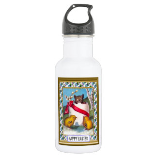 The kitten and the chicks stainless steel water bottle