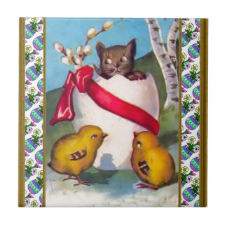 The kitten and the chicks tile