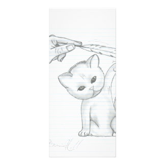 The Kitten and the Feather Rack Card