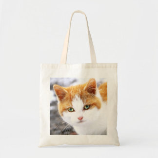 The Kitten In Snow Tote Bag