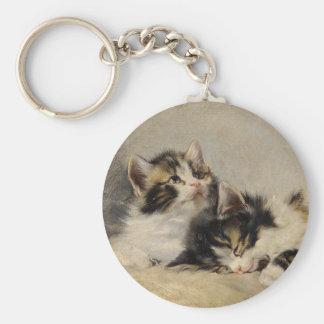 The kitten which you dream basic round button keychain