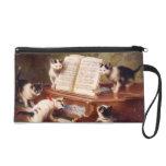 The Kitten's Recital - Vintage Cat Painting Wristlet Purse