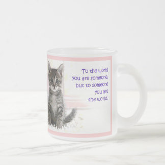 The Kitten's World Frosted Glass Coffee Mug