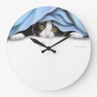 The Kitty Bug Hunter Wall Clock