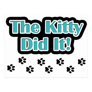 The Kitty Did It! Postcard