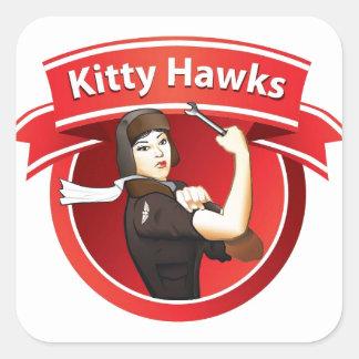 The Kitty Hawks Square Sticker