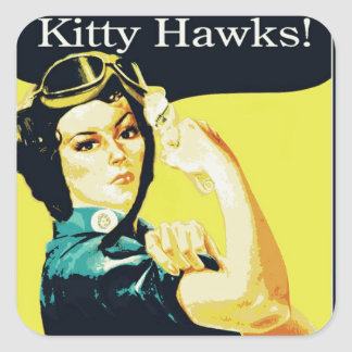 The Kitty Hawks Square Sticker