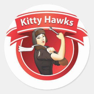 The Kitty Hawks Round Stickers