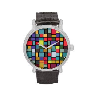 The Klee-esque Mosaic Watch (black)