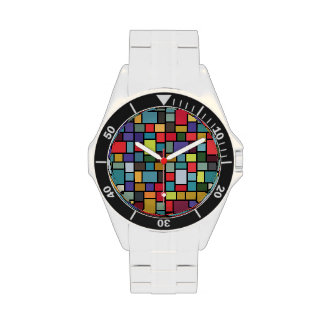 The Klee-esque Mosaic Watch (classic stainless)