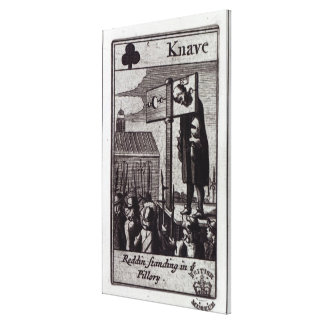 The Knave of Clubs Canvas Print
