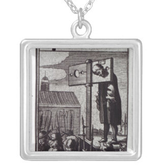 The Knave of Clubs Silver Plated Necklace
