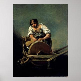 The Knife-Grinder, c.1808-12 Poster
