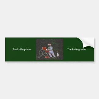 THE KNIFE GRINDER CAR BUMPER STICKER
