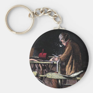 """The Knife Grinder""  Vintage Illustration Keychain"