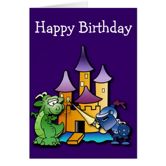 The Knight and the Dragon Birthday Card