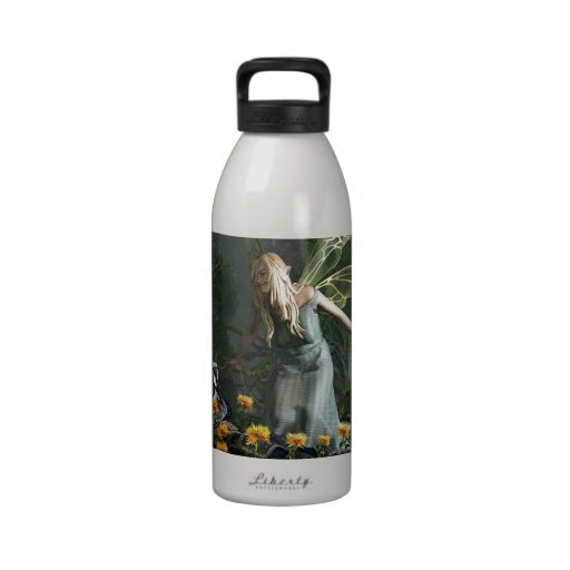The Knight and The Faerie Reusable Water Bottle