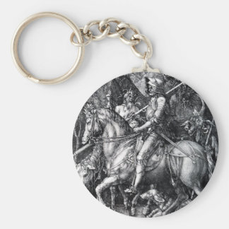 The Knight, Death and the Devil by Albrecht Durer Keychain