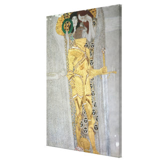 The Knight detail of the Beethoven Frieze Canvas Print